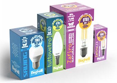 Packaging confezioni lampadine Beghelli