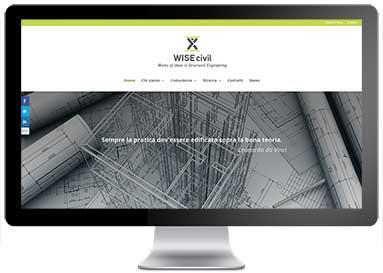 Sito web WISE civil
