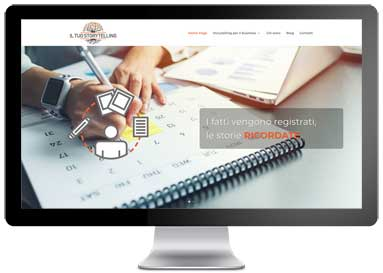 Design del sito Web il tuo storytelling